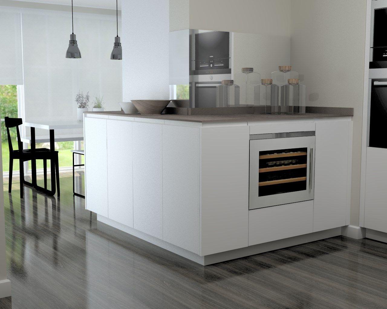 Cocina Santos Modelo Line L Blanco Seda con Encimera