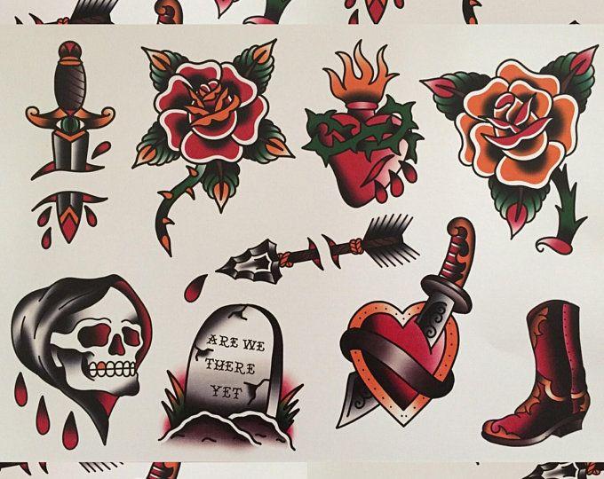 Photo of Flash de tatouage traditionnel