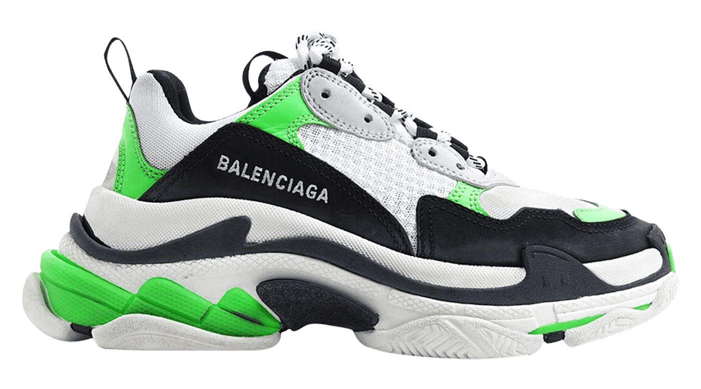 BALENCIAGA TRIPLE S TRAINER GREEN FLUO (W). balenciaga