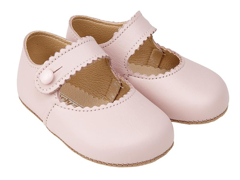Girl/'s School Dress Comfy Shoes Mary Jane w bow Toddler size Beige Pink
