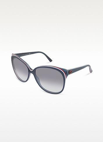 13df1000456 Gucci Womens Round GG Logo Sunglasses GUCCI Women s Round GG Logo Sunglasses  €195
