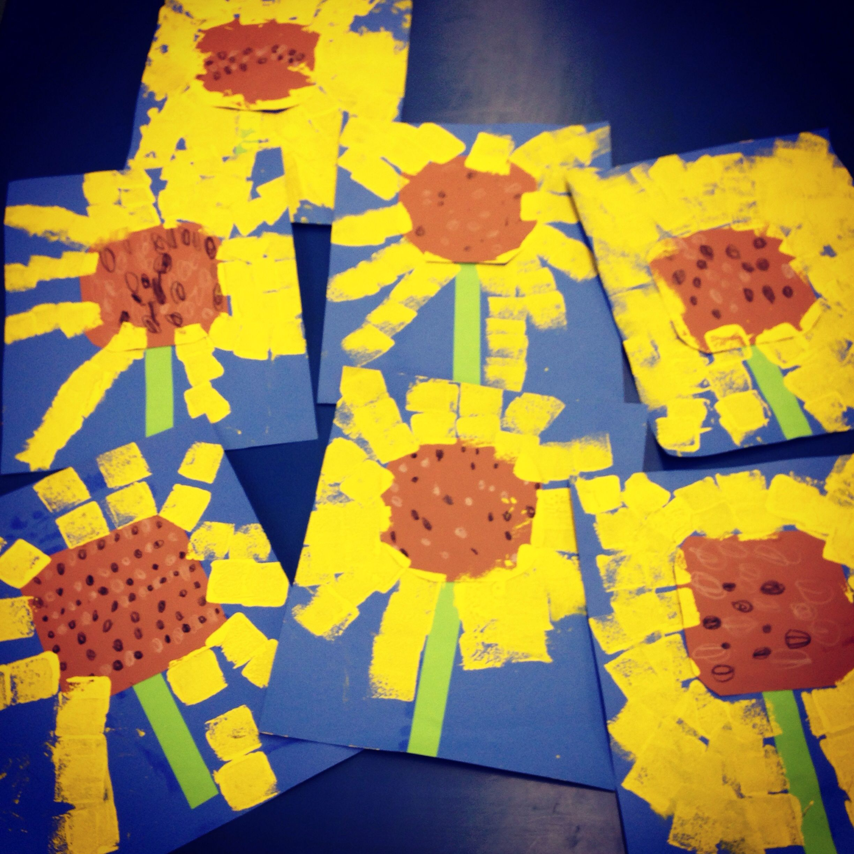 Kindergarten Sunflowers Art Education