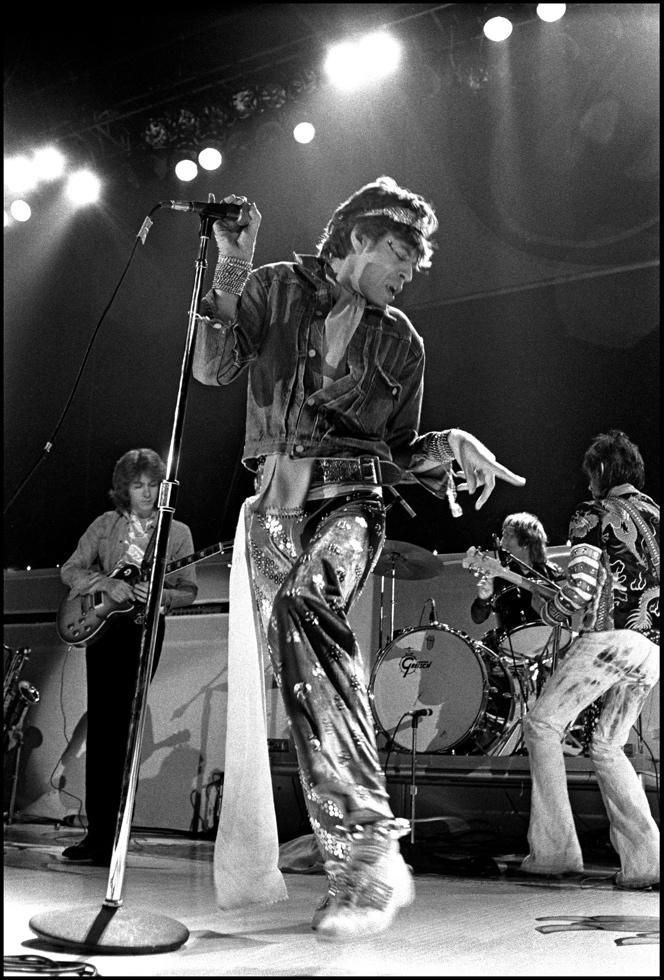 The Rolling Stones at The Forum in Los Angeles, CA January 18, 1973 | Photo by © Neal Preston