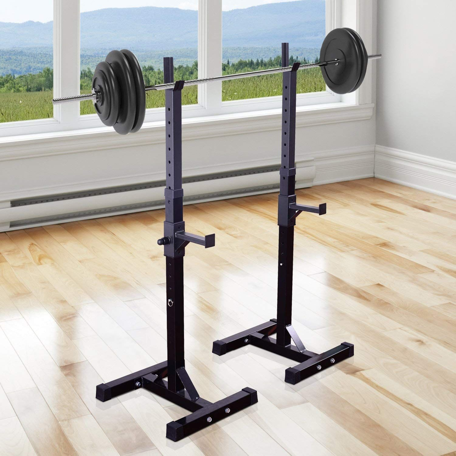 Heavy Duty Weights Bar Barbell Squat Stand Stands