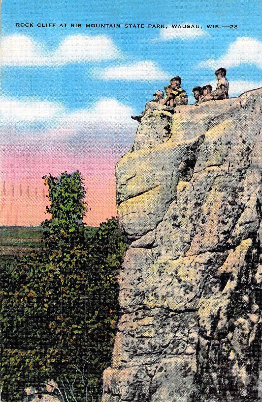 Rock Cliff At Rib Mountain State Park Wausau Wi Wausau Vintage