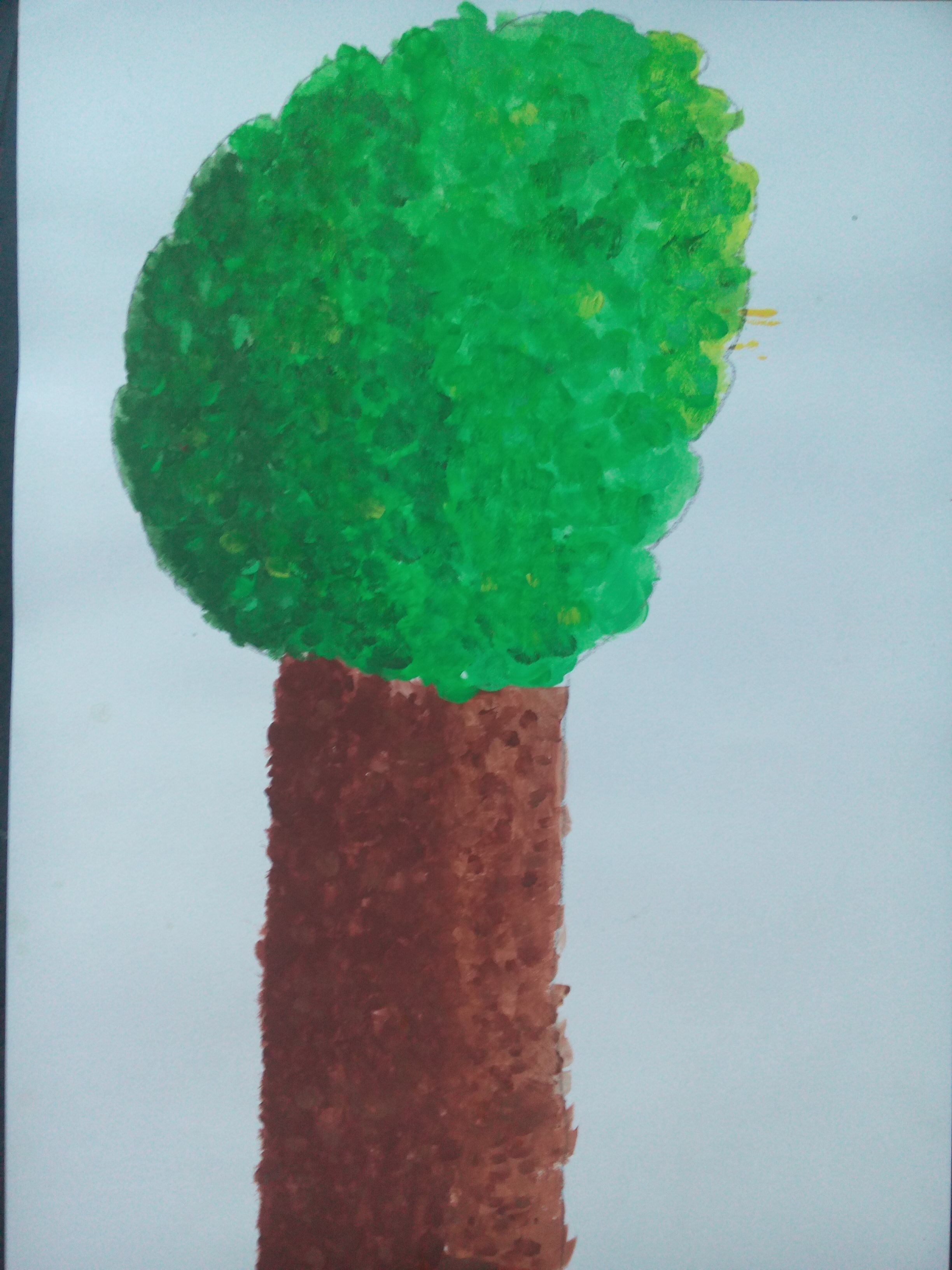This is a painting I made myself. It is a tree colors: green, brown