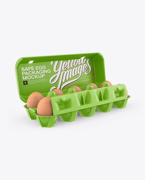 Download Open Matte Egg Container Halfside View High Angle Shot In Packaging Mockups On Yellow Images Object Mockups Mockup Free Psd Egg Container Psd Mockup Template