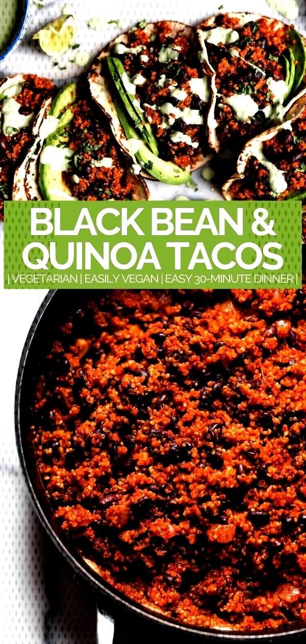 Black Bean Tacos (amp Cilantro Lime Crema!) - plays well with butter - quinoa amp black bean tacos (wi