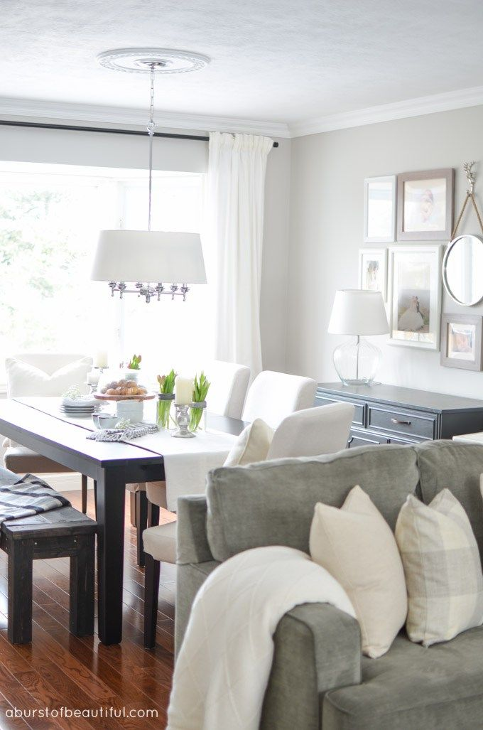 Best Living Room Dining Room Makeover Grey Living Rooms 400 x 300