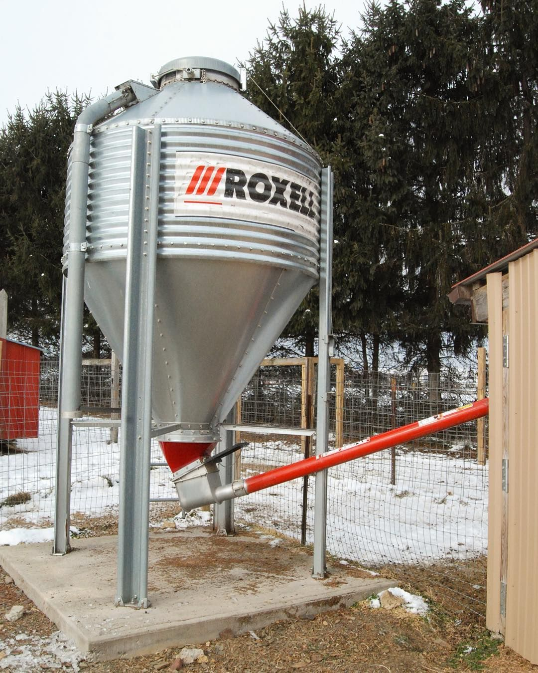 A grain bin and auger could improve your feeding routine  A