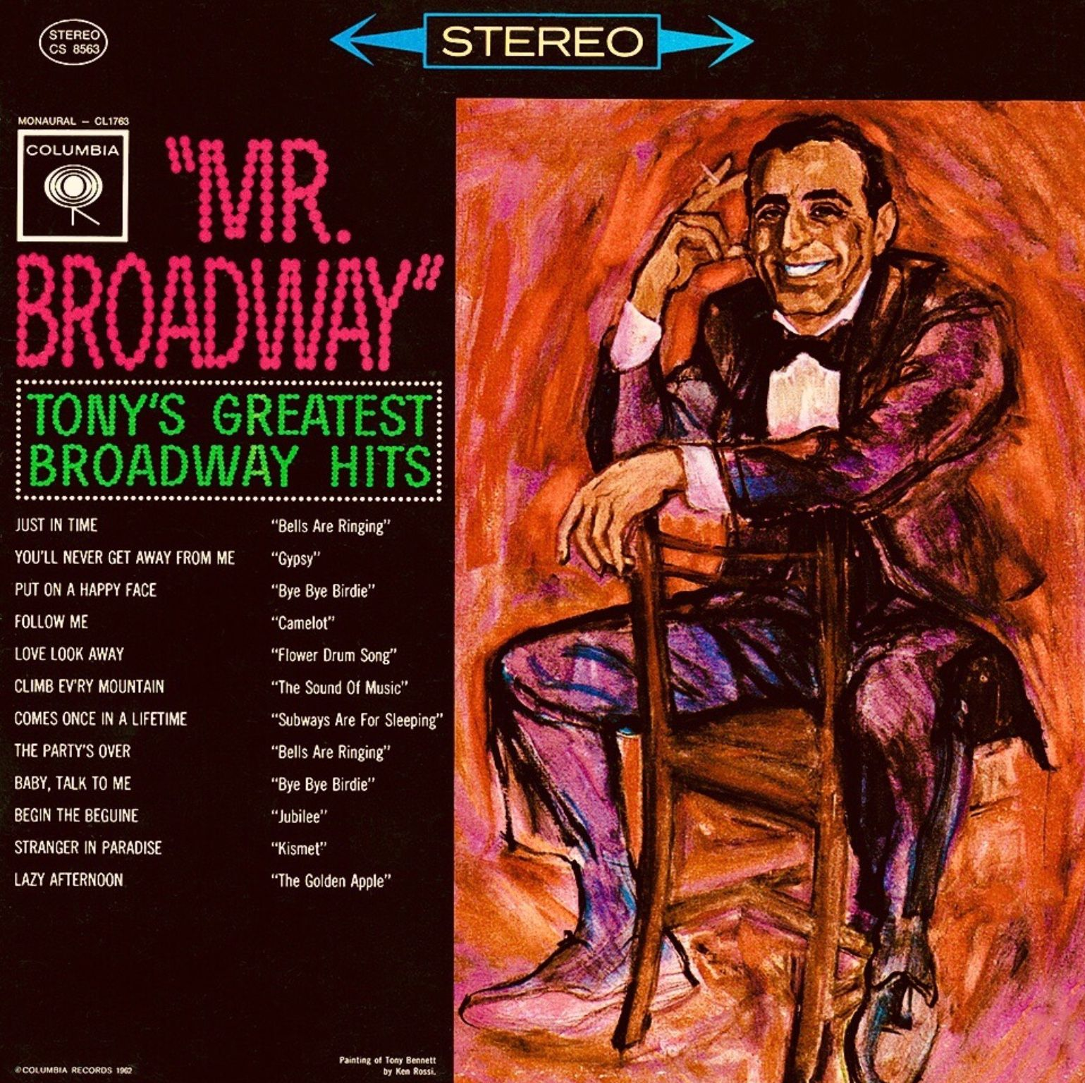 Mr Broadway 1962 Tony Bennett Tony Da Man
