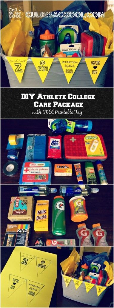 DIY Athlete College Care Package Collage