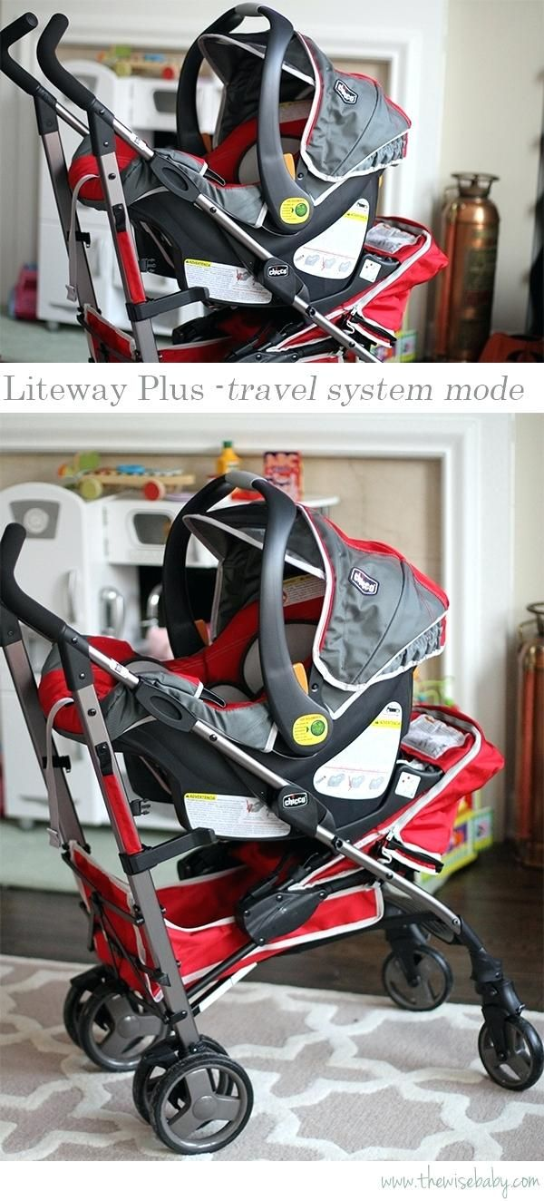 Rosa Baby Kinderwagen Chicco Liteway Plus Travel System
