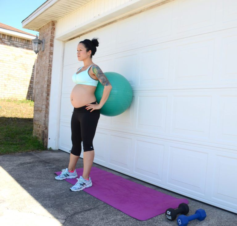 Prenatal Fitness Ball Workout Routine Mommy workout