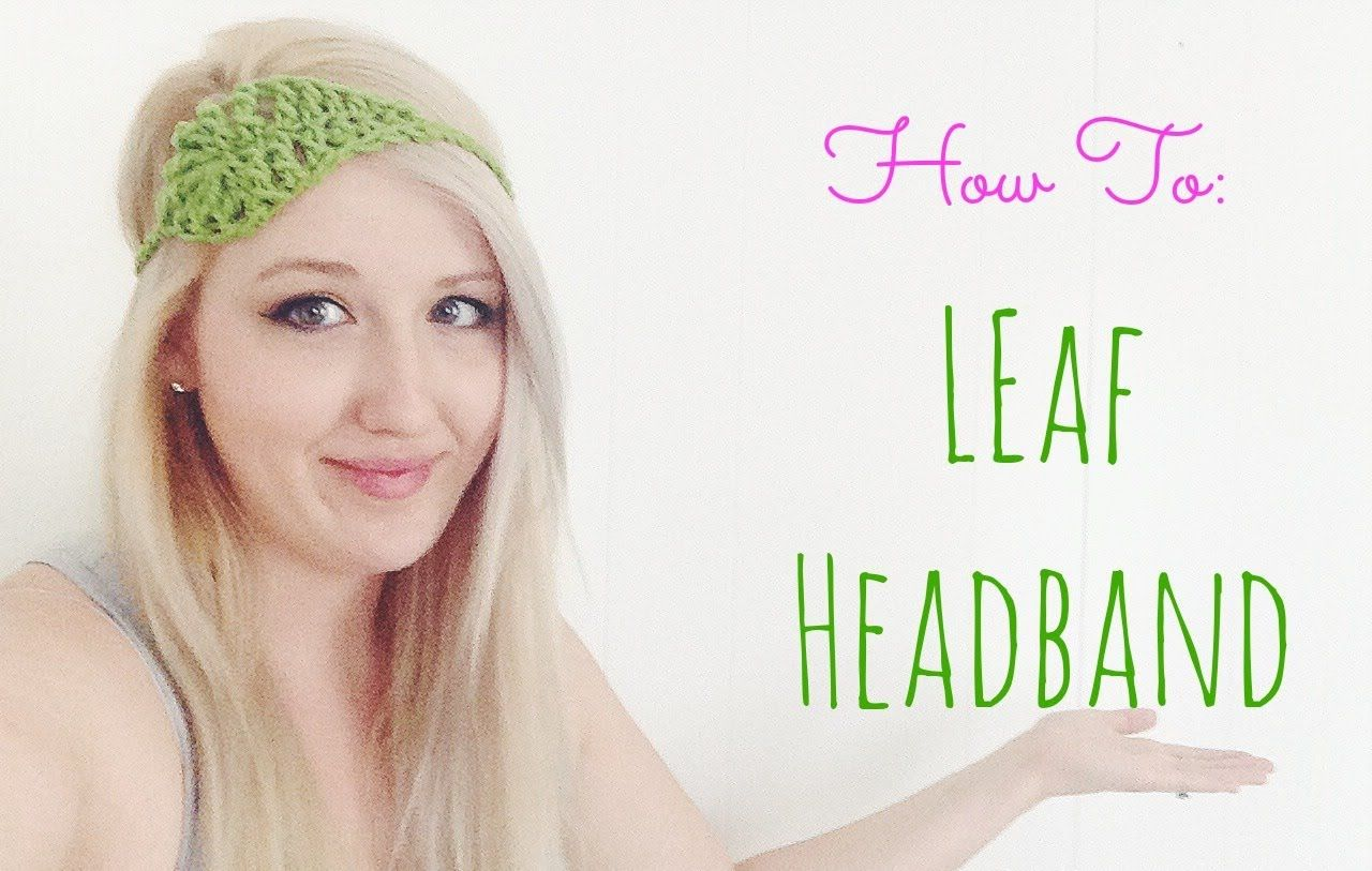 How to Crochet a Leaf Headband | COQUETERÍA Y MÁS | Pinterest | Croché