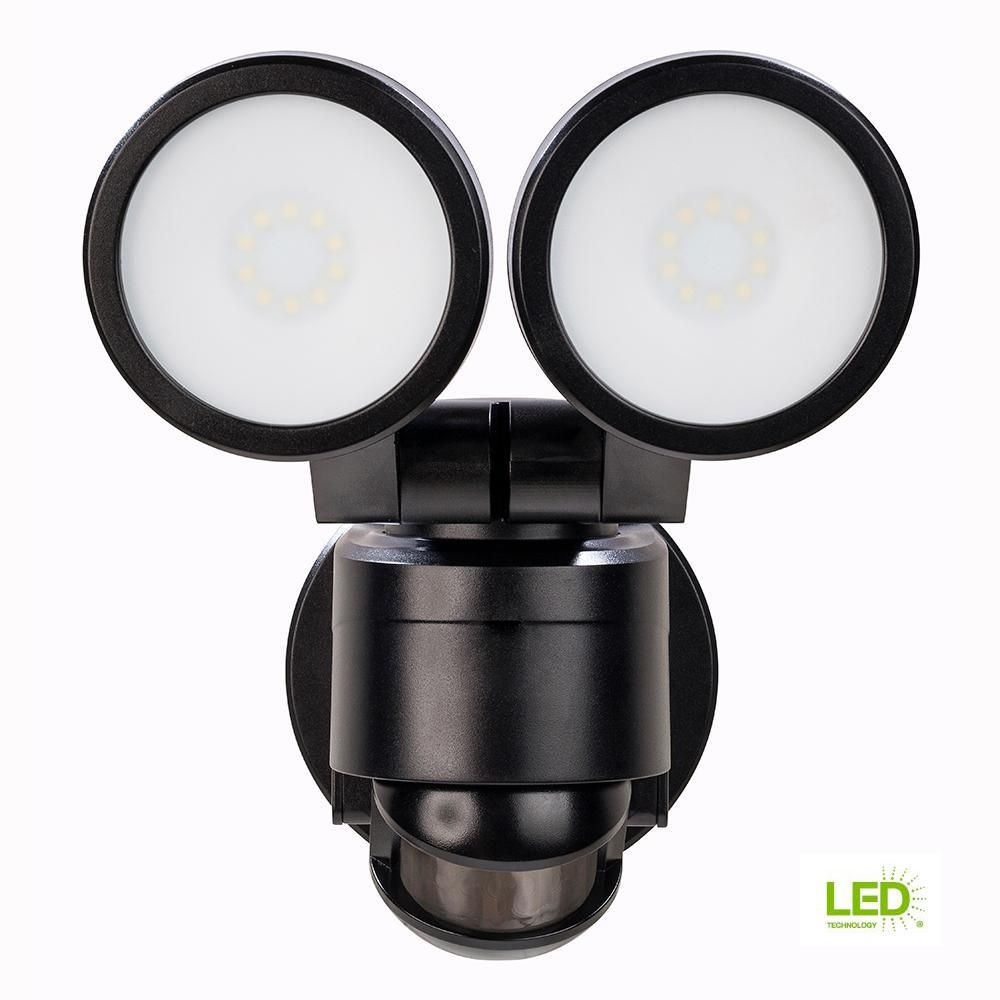 Defiant 180 Degree Black Motion Activated Outdoor Integrated Led