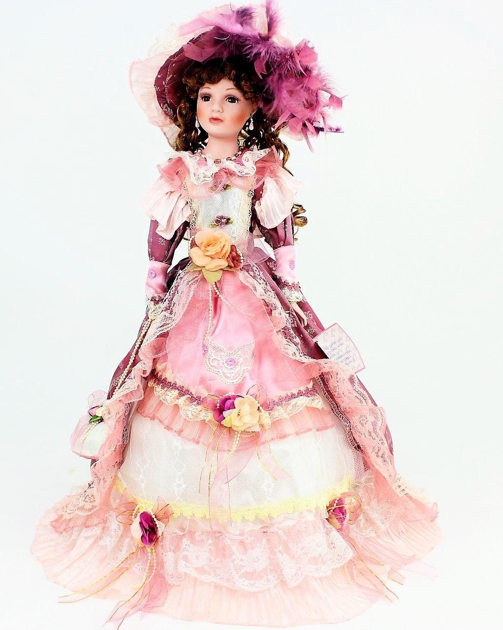 26 inch Umbrella Porcelain Dolls Victorian Style #dollvictoriandressstyles