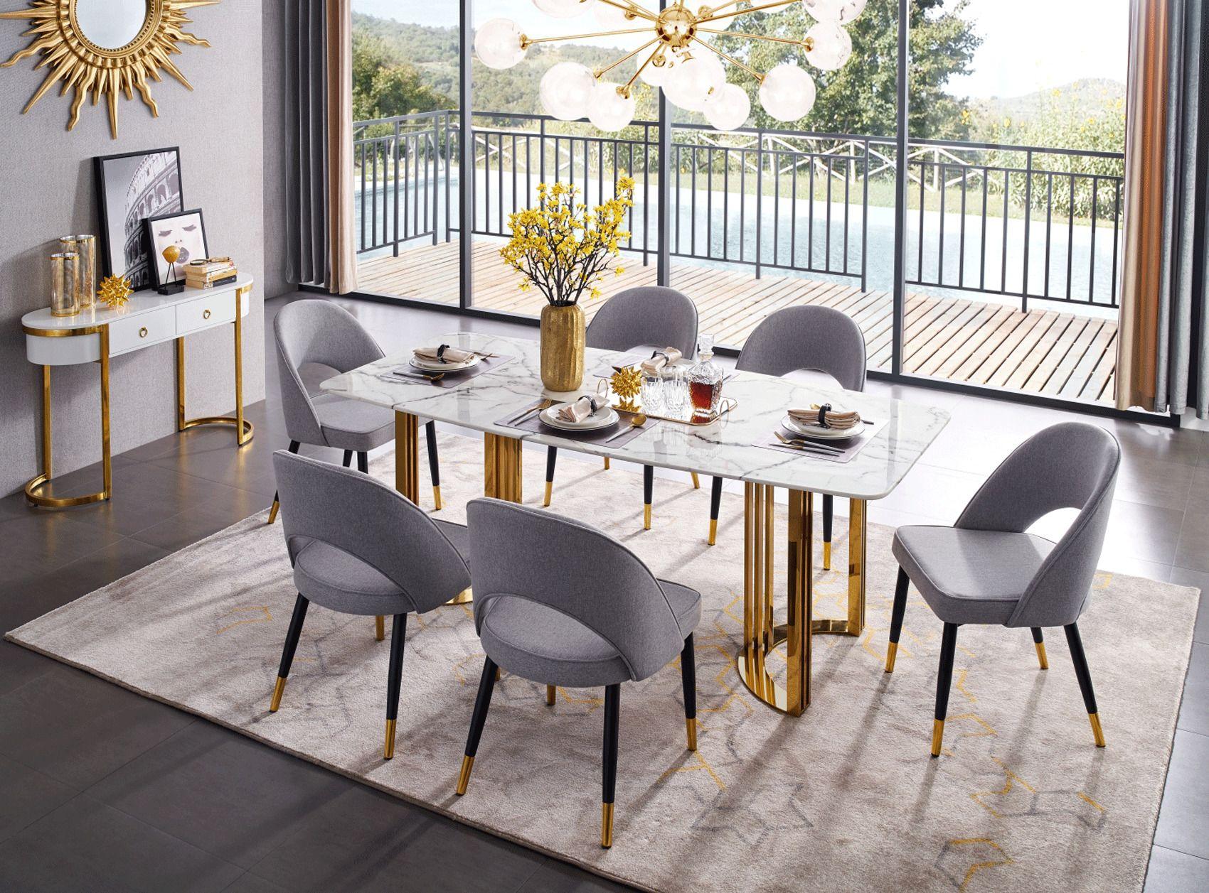Overnice Modern Dining Room Modern Dining Room Set Marble Top Dining Table Dining Table Marble