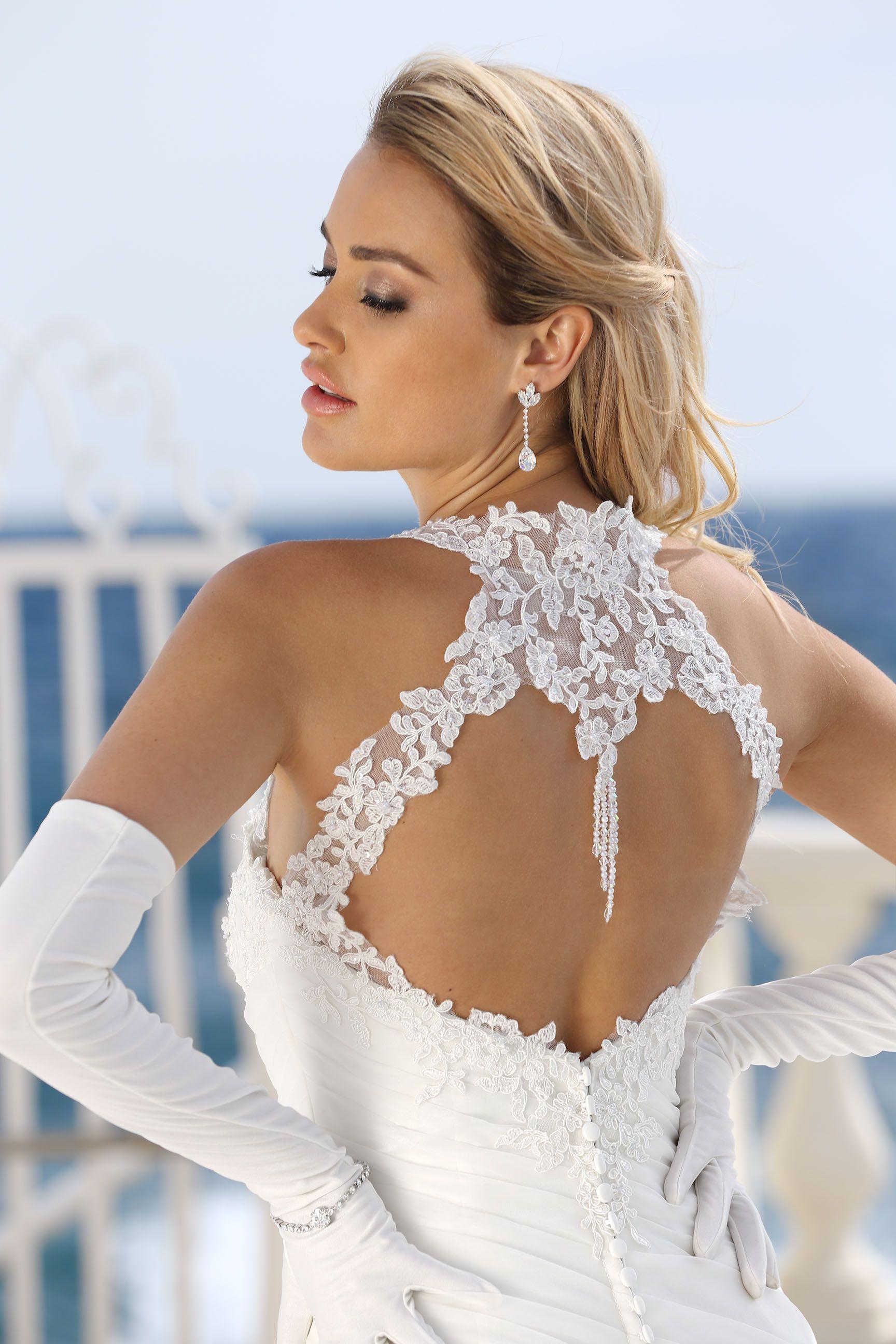 Style Beautiful lace back wedding dress