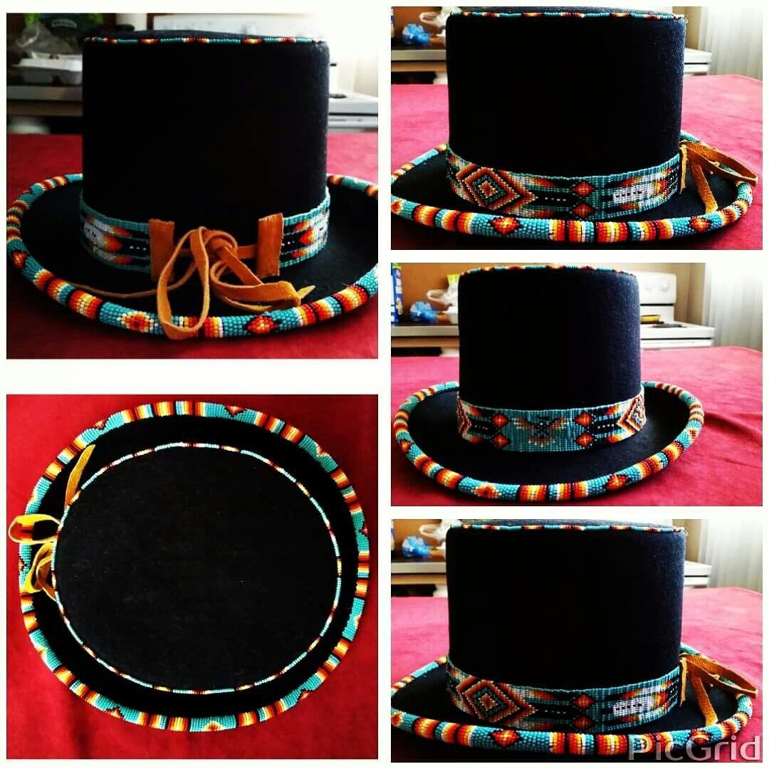 Top hats bead patterns found on here pinterest beadwork beads