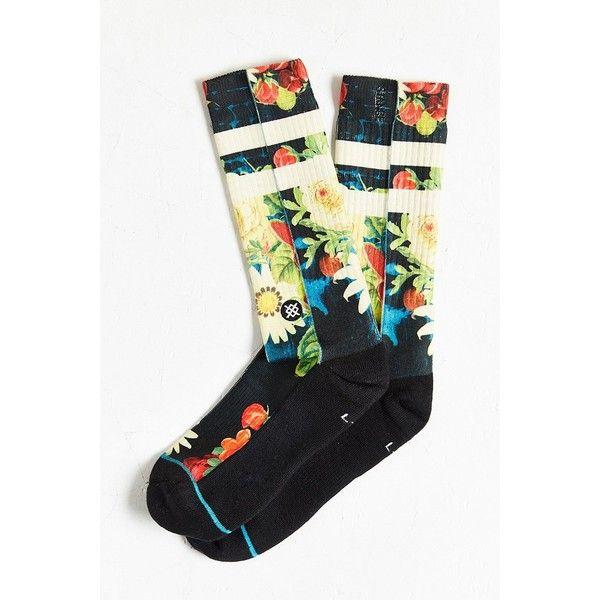 Stance Coburg Sock ($14) ❤ liked on Polyvore featuring intimates, hosiery,  socks
