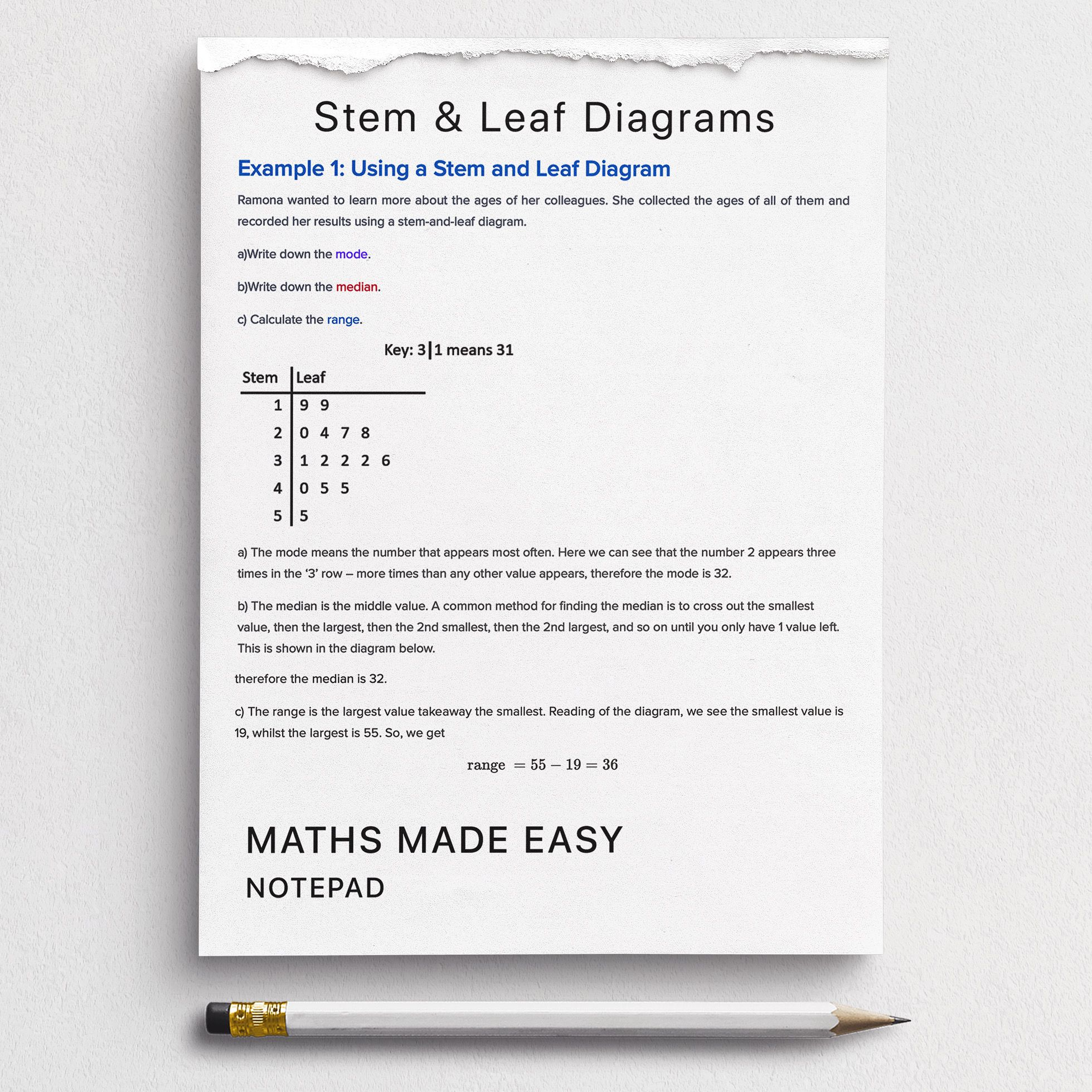 Stem And Leaf Diagrams Worksheets