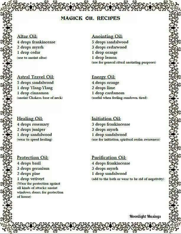The Aries Witch  Magick Oil Recipes For Meditation  Crystal