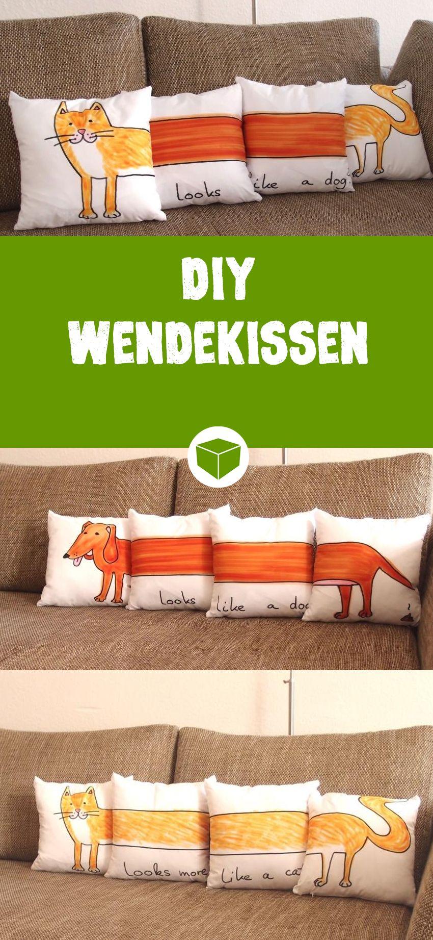 Kreative wohnideen fotokissen in vier teilen  house  pinterest  sewing diy and cushions