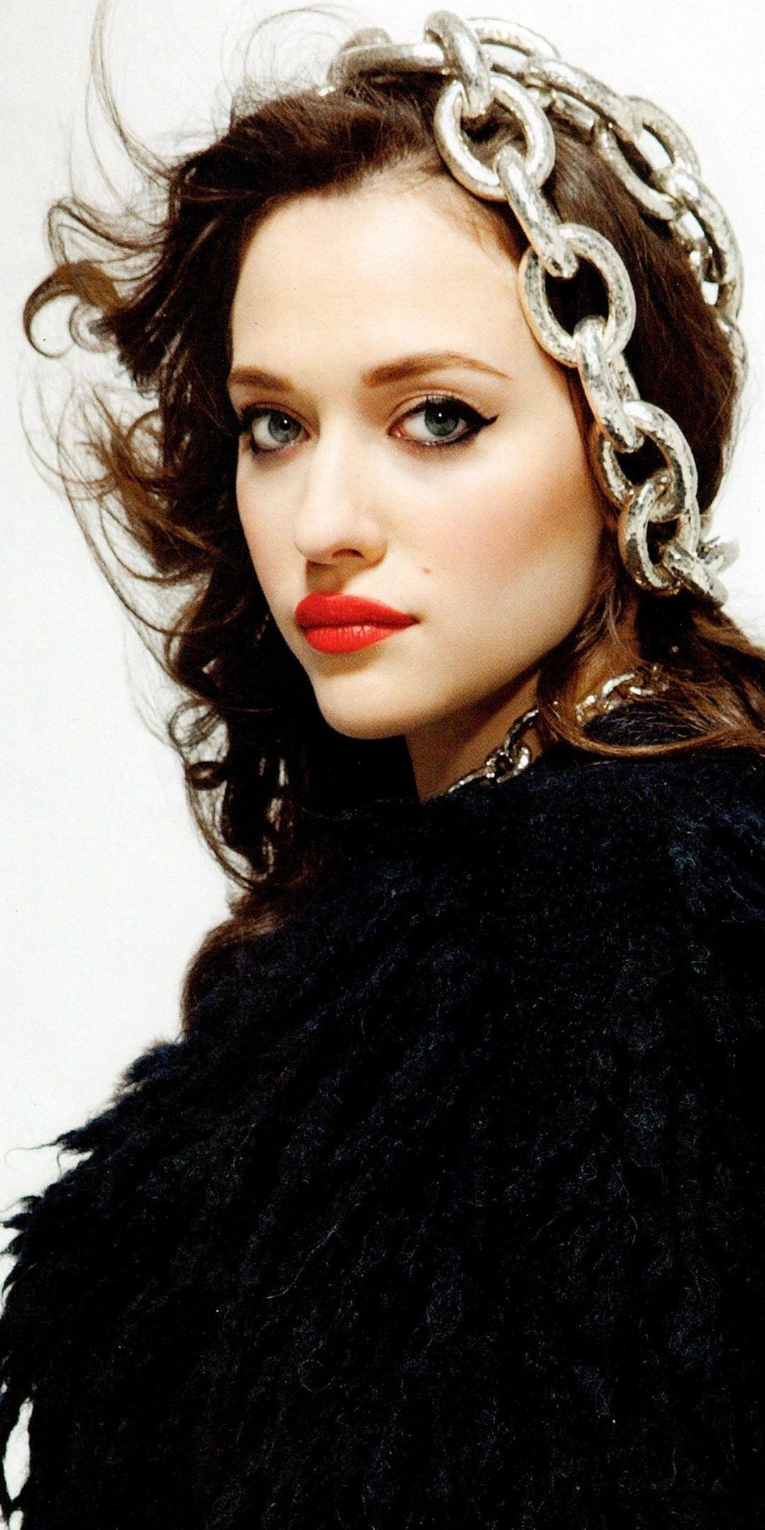 Red Lips Beautiful Kat Dennings 1080x2160 Wallpaper Red Lips Kat Dennings Beautiful