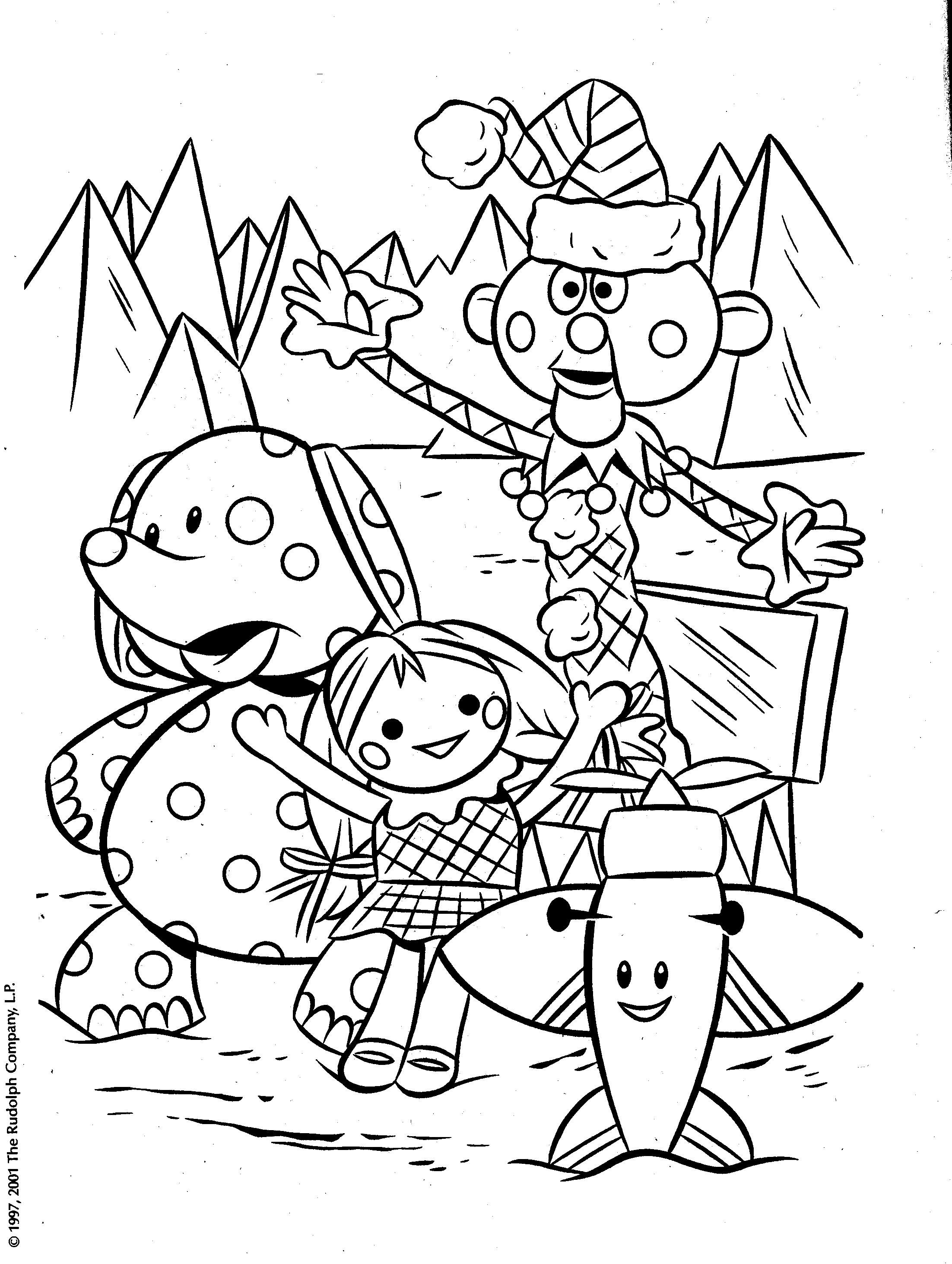 rudolph misfit toys coloring pages