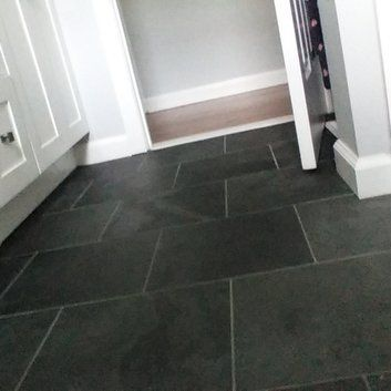 Montauk 12 X 12 Slate Field Tile In Black Gray Reviews Allmodern Flooring Kitchen Flooring Slate Flooring