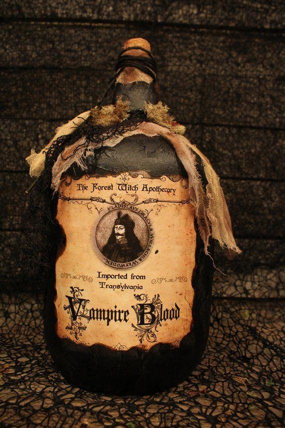 Huge Halloween Potion Bottle, Vampire Blood, Halloween decorations