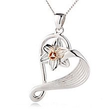 1f6242dbe Clogau Daffodil 9ct Rose Gold & Sterling Silver Diamond Accent 45cm Necklace