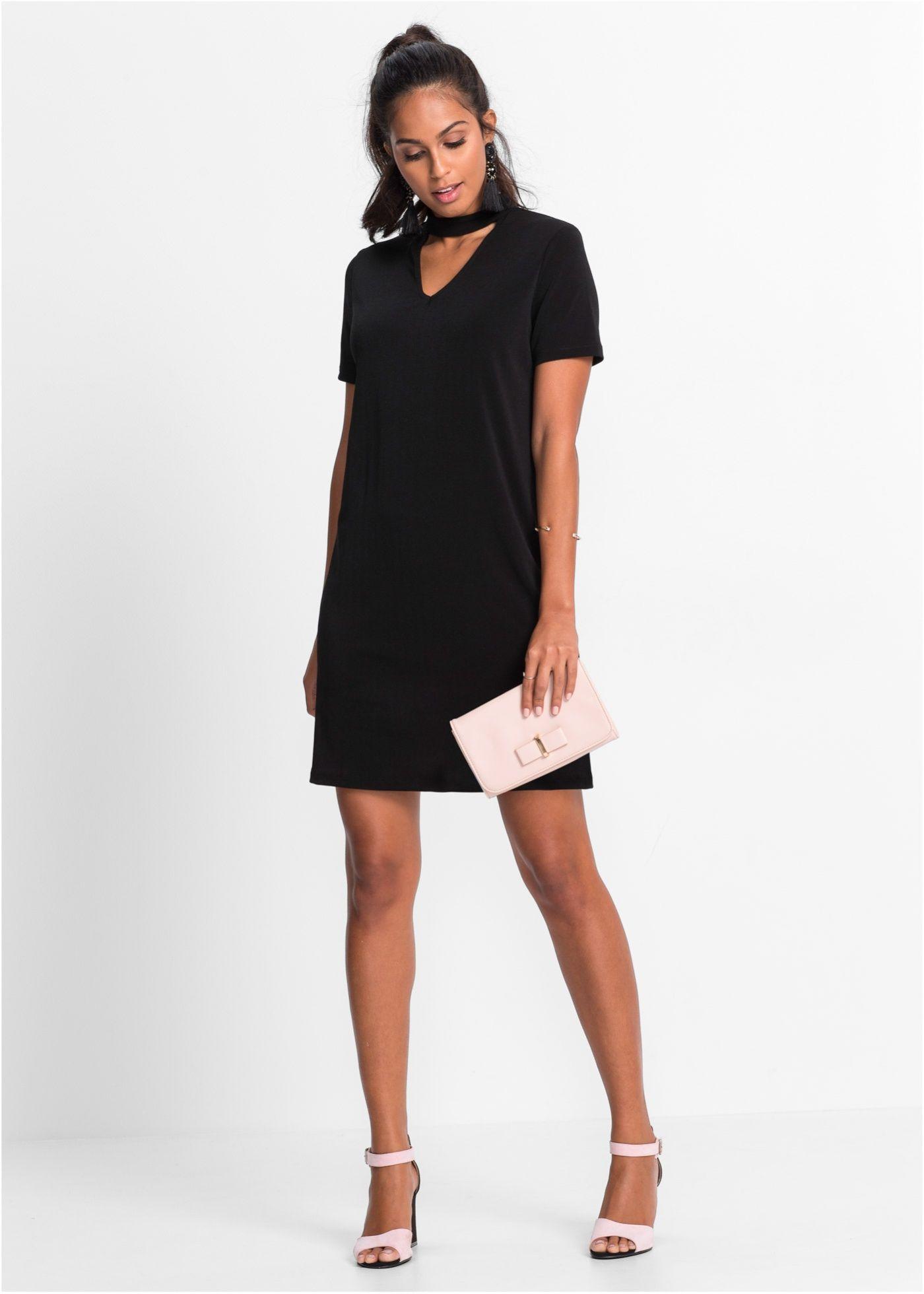 Feminines Kleid mit originellem Halsdetail | Ausschnitt, Online ...