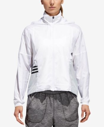 07bf8f43af56 adidas Id Colorblocked Windbreaker - White XL Womens Windbreaker