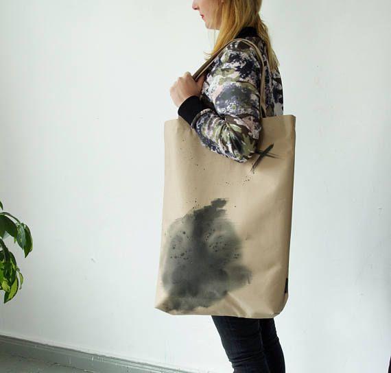 Shopper Bag Large Bags Vegan Big Book Summer