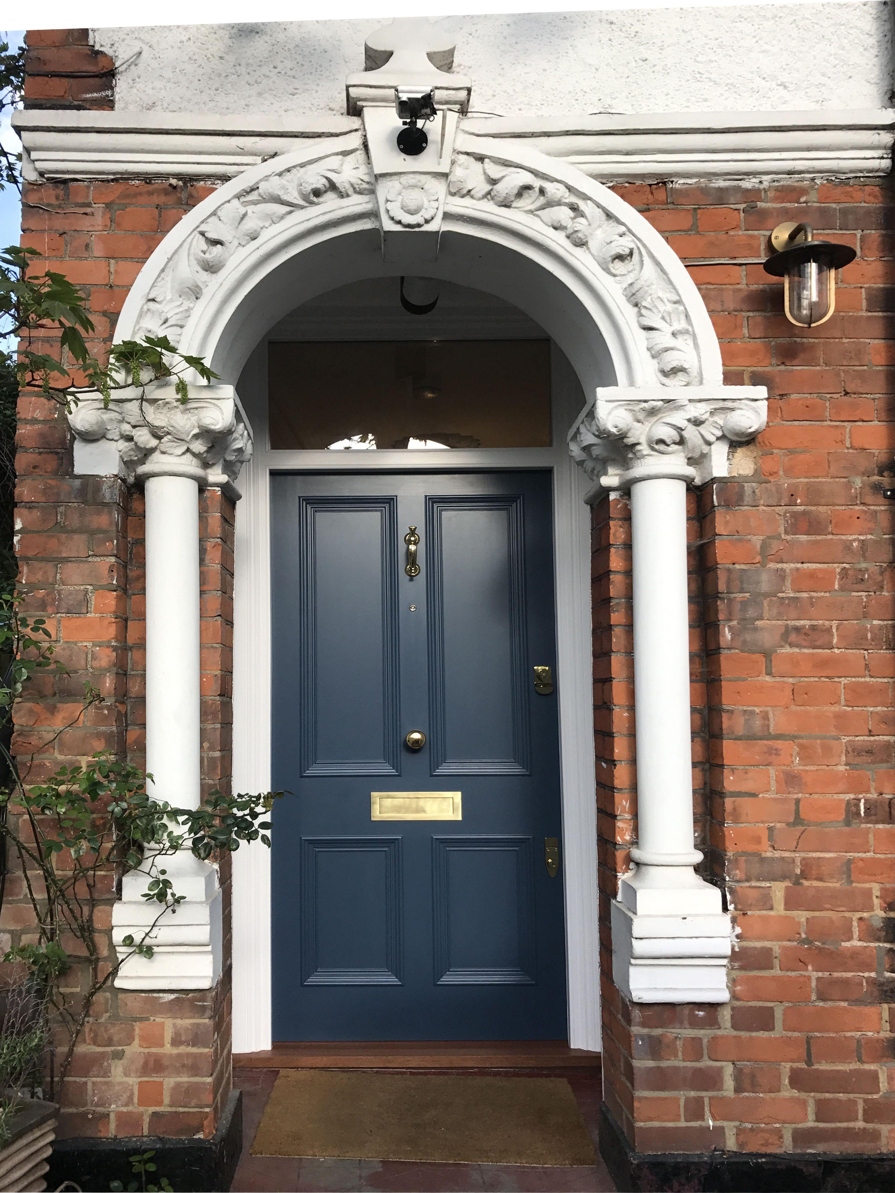 Beautiful Victorian front door painted in \