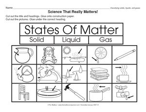 Printables Solid Liquid Gas Worksheet freebie states of matter cut and paste the words into correct solids liquids gases 3 types graphic organizer