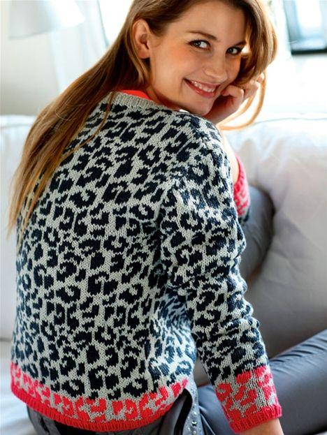 Strik selv: Bluse med leopardmønster - Hendes Verden   Stickat ...