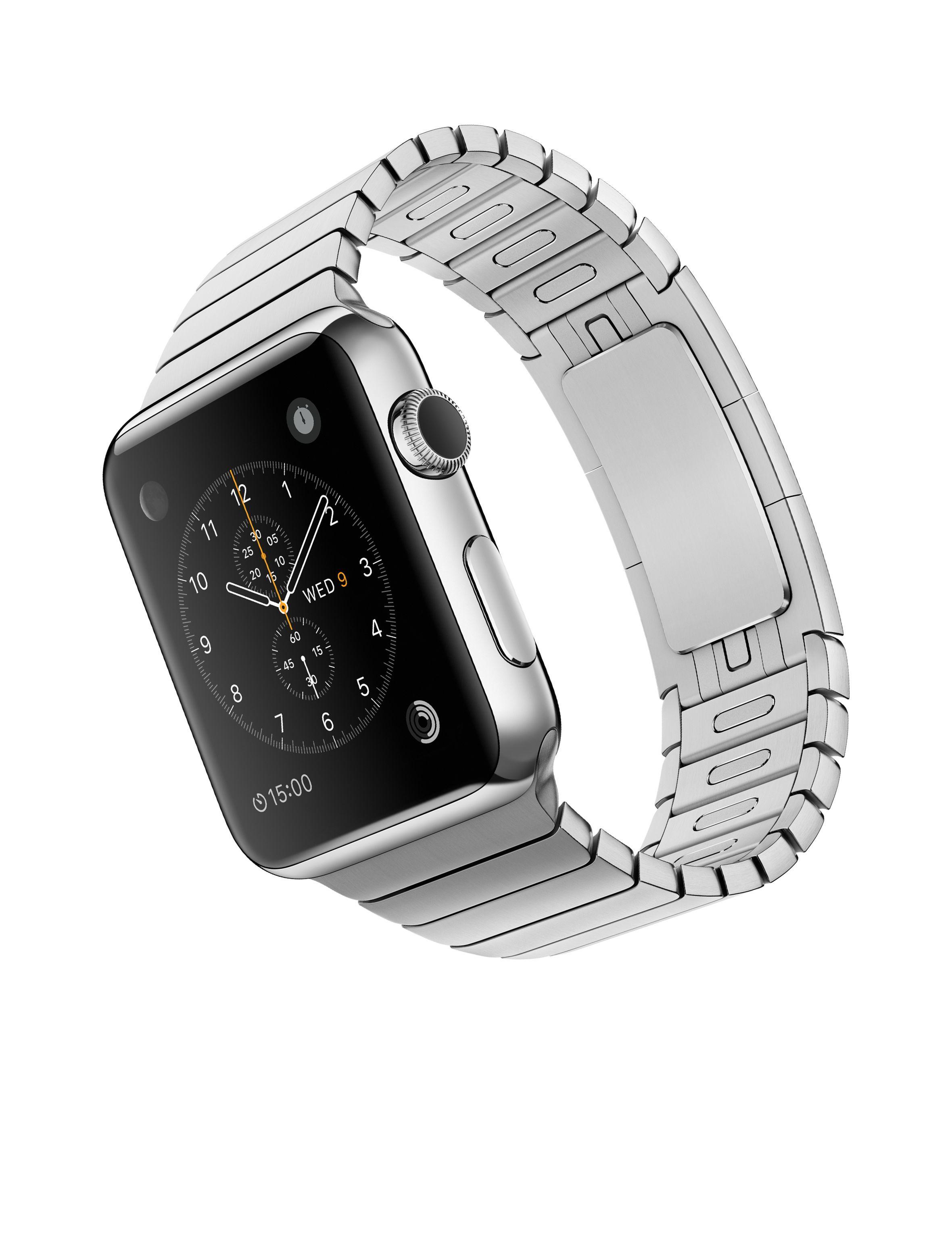 40d890f7308 Apple Watch – Caixa 42mm de aço inoxidável com pulseira de elos ...