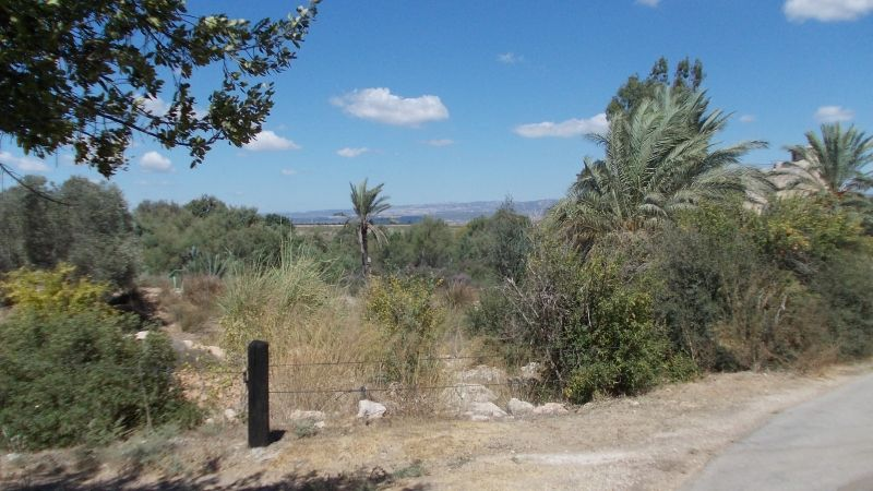 The Entrance to Ein Afeq park, on the Horizon the Hills of North Israel.  photo mirjam Bruck-Cohen