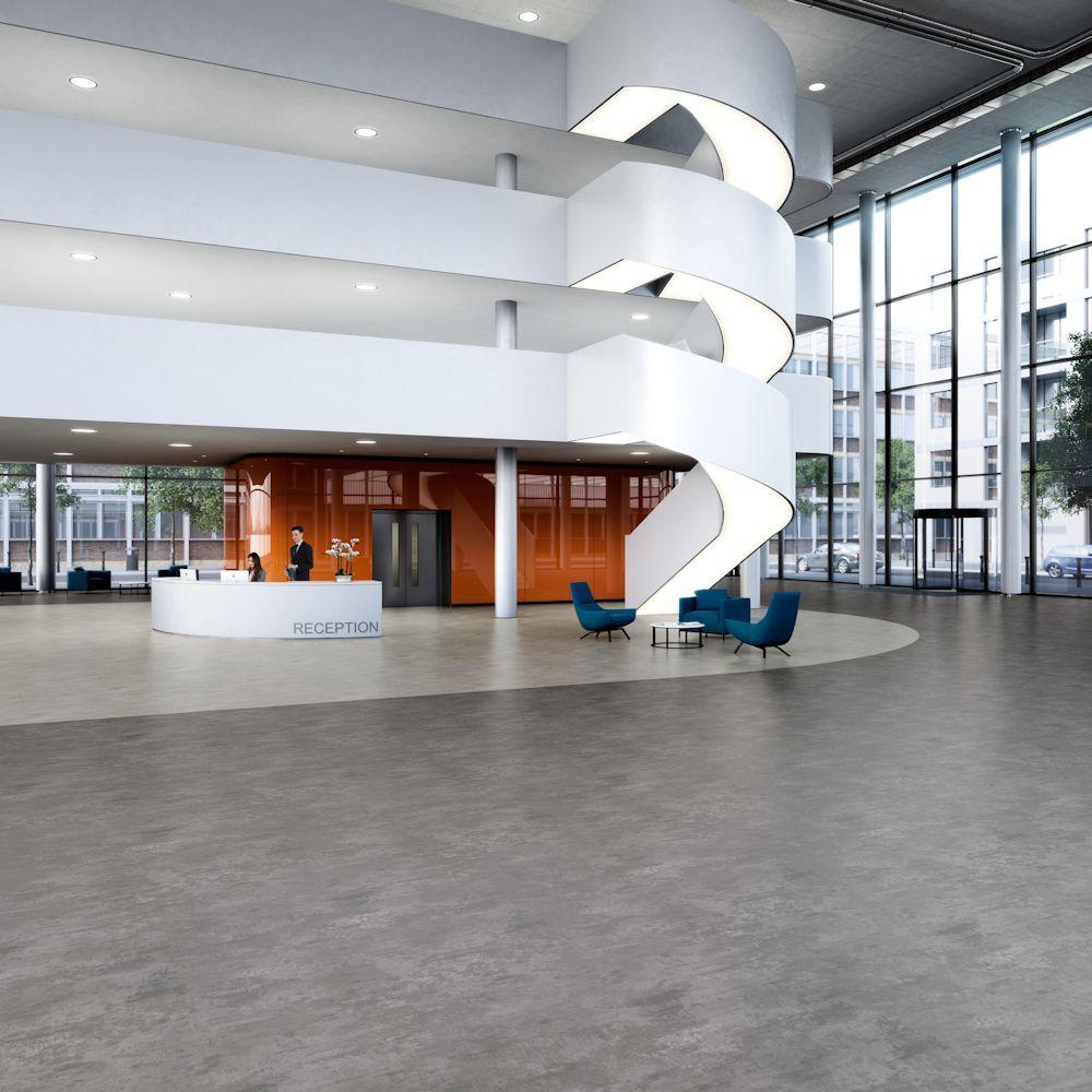 Expona Flow Light Grey Concrete 9858 And Cool Concrete