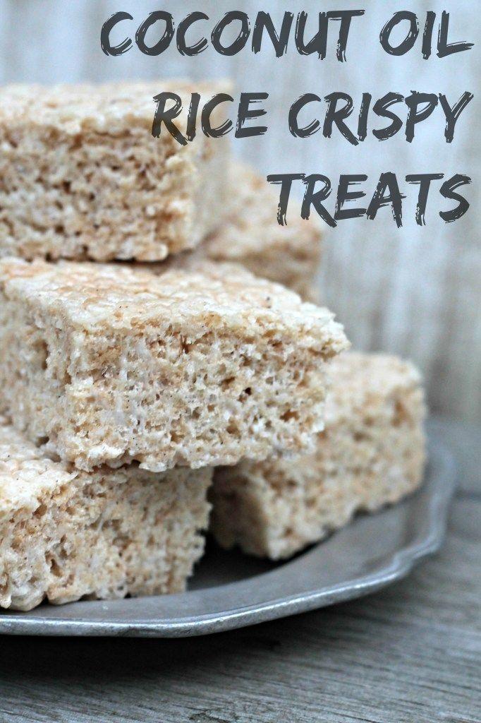 Coconut Oil Rice Krispie Treats | Recipe | Rice crispy ...