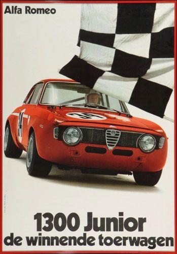 Alfa Romeo 1300 Junior-1970 multicolor advertising poster