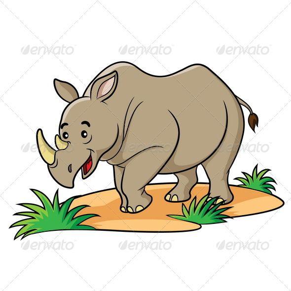Rhino Cartoon Cartoon Animals Cartoon Drawings Rhino Pictures
