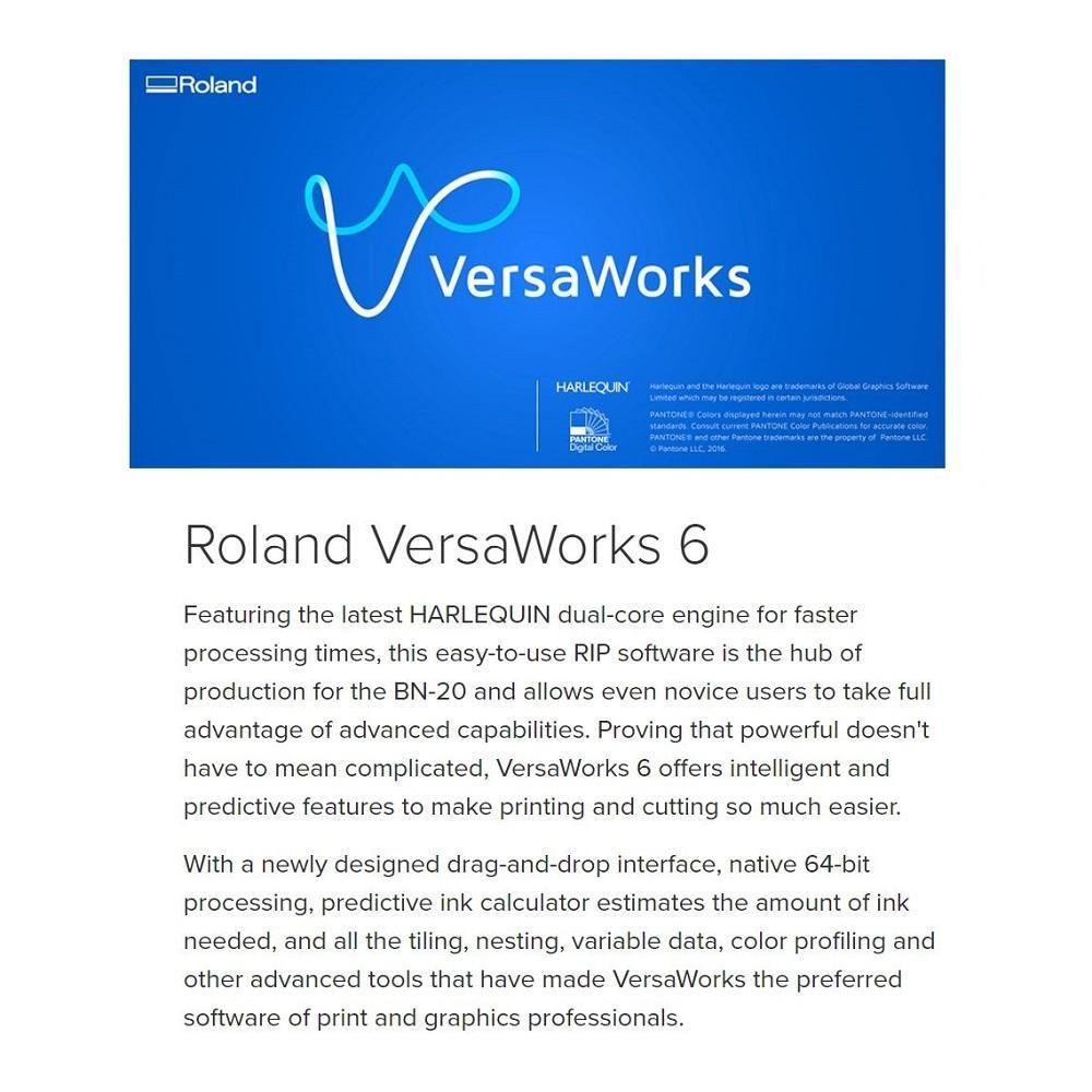 Roland Versastudio Bn 20 Desktop 20 Eco Solvent Printer Cutter Printer Cutter Printer R Words