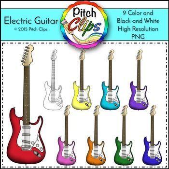 Electric Guitar Clipart Clip Art