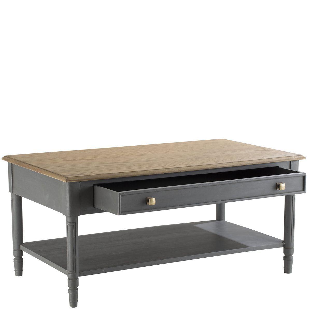 Table Basse Chene Grise 1 Tiroir Leon H50xl110xp60cm Amadeus Taille Taille Unique Table Basse Chene Table Basse Table Basse Tiroir