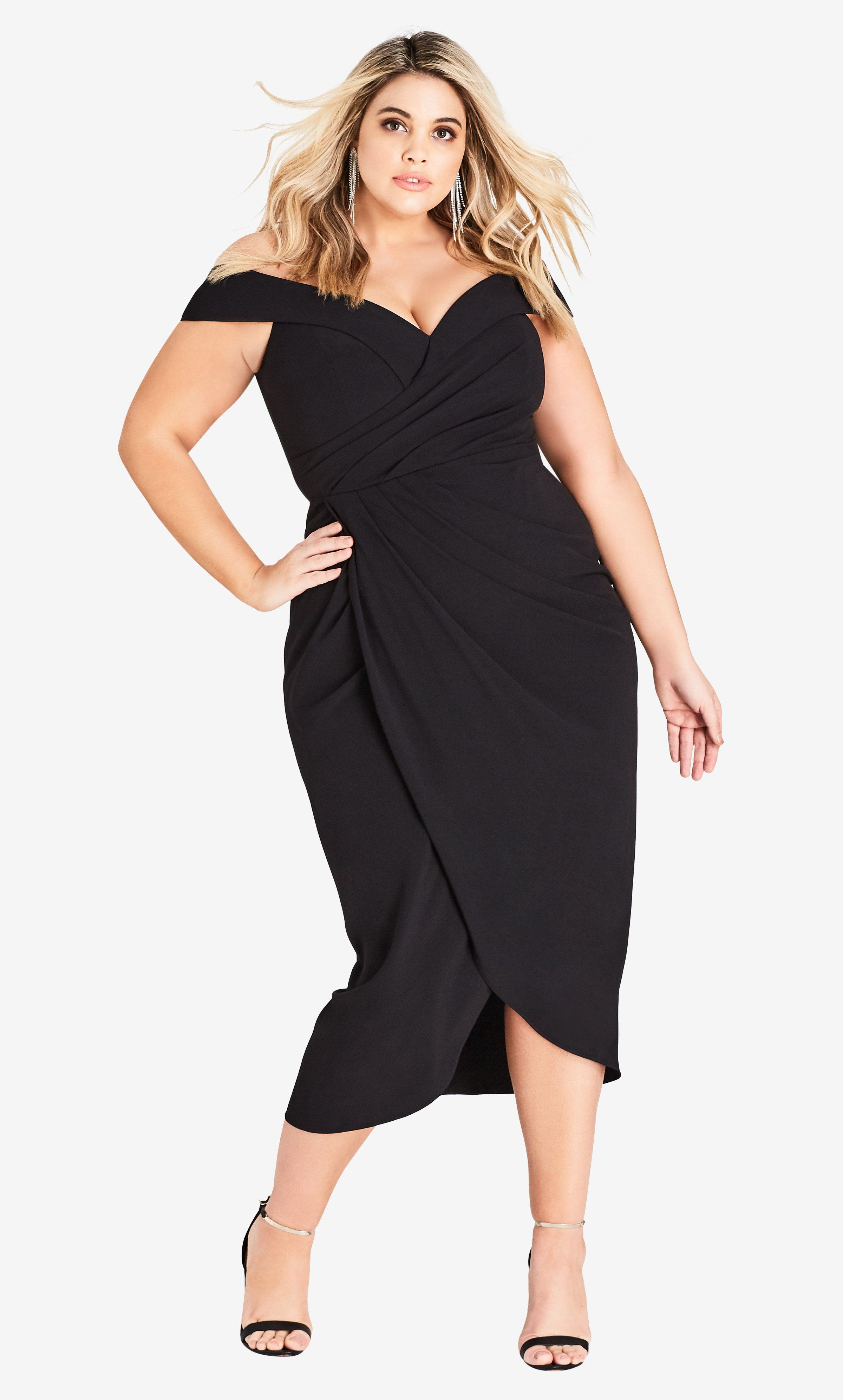 01bacbbd Rippled Love Dress - black in 2019 | Plus Size Clothing, Many ...