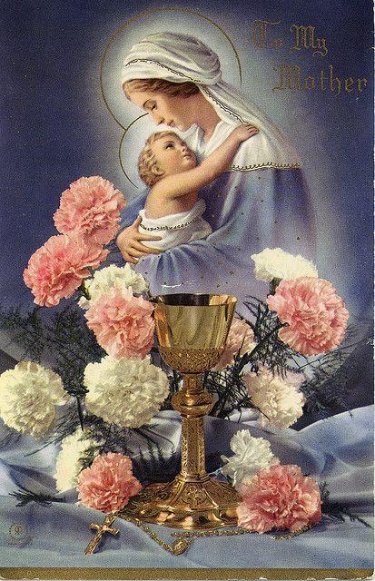 rosary card catholic love pinterest mother mary